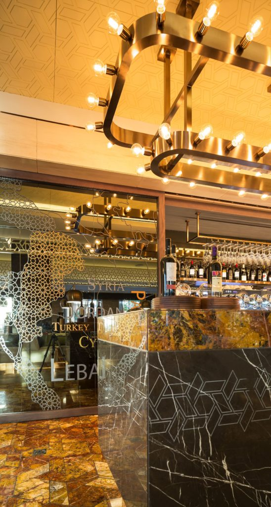 Hospitality designs olea restaurant kempinski dubai