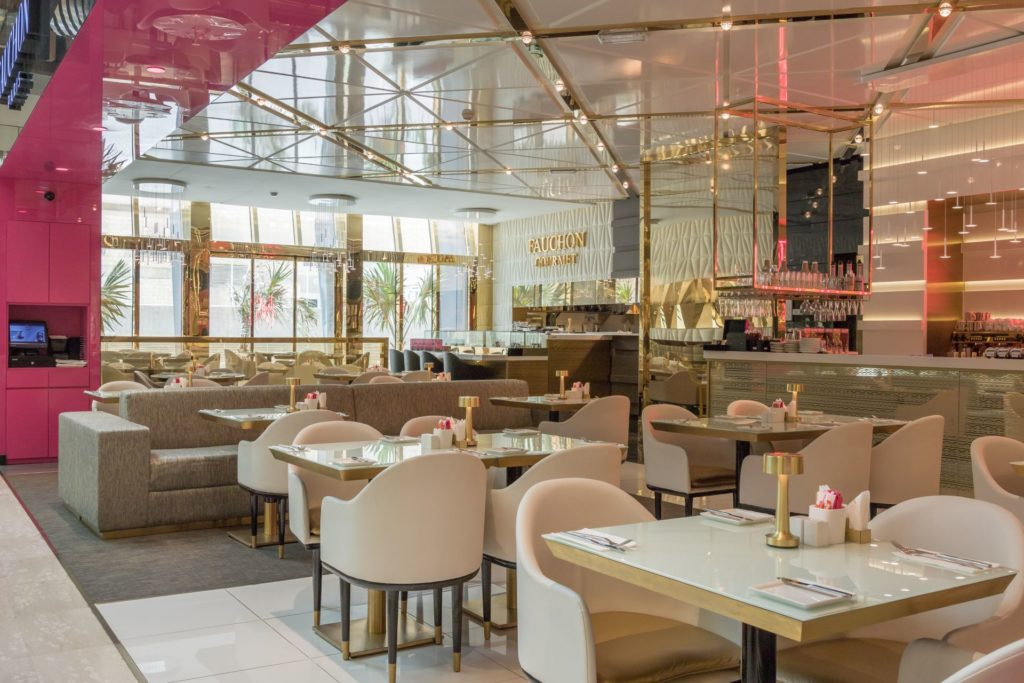 Hospitality designs fauchon salhiya complex kuwait for Design hub interior decoration llc