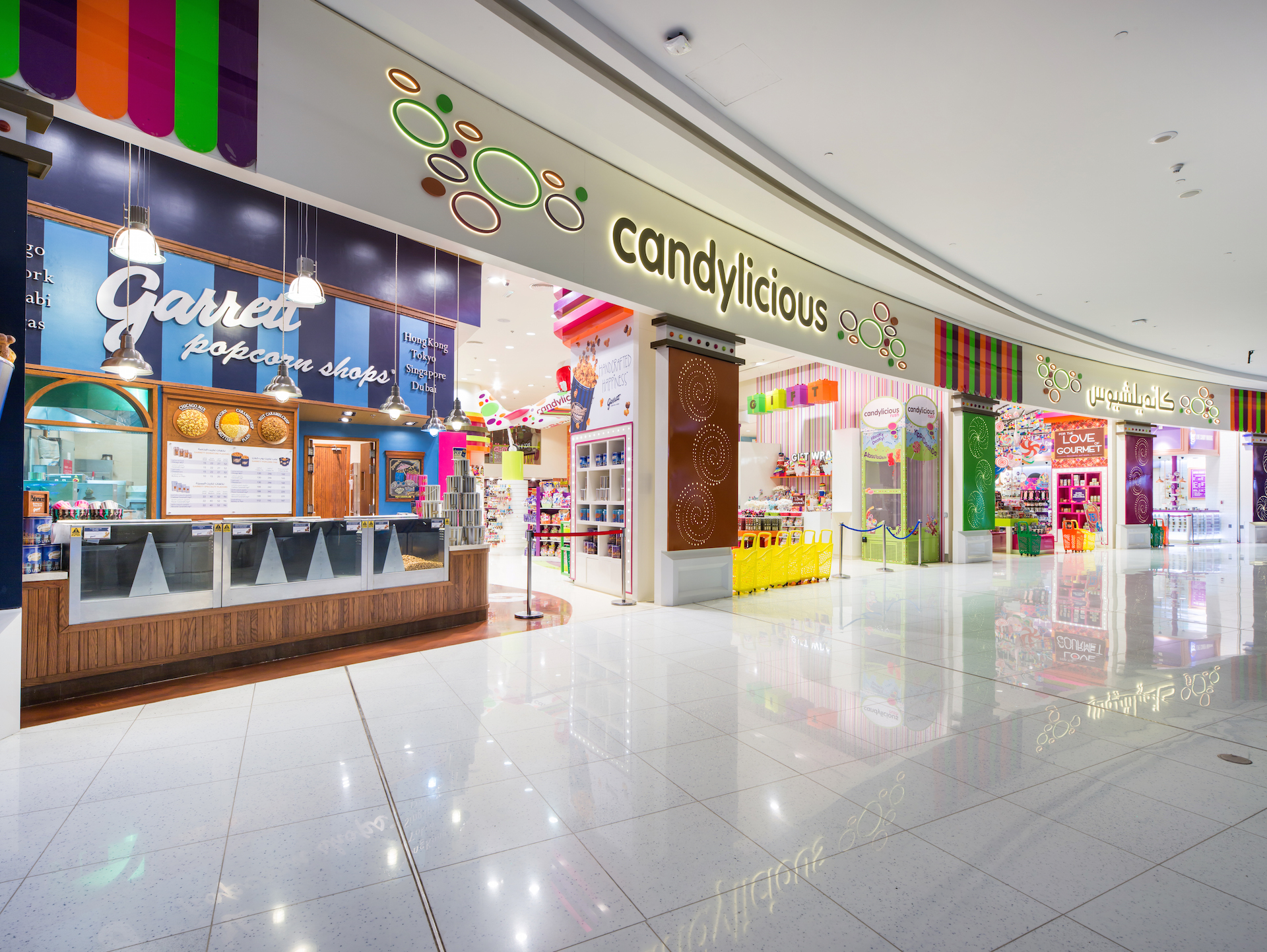 candylicious, candy store, interior design, dubai mall