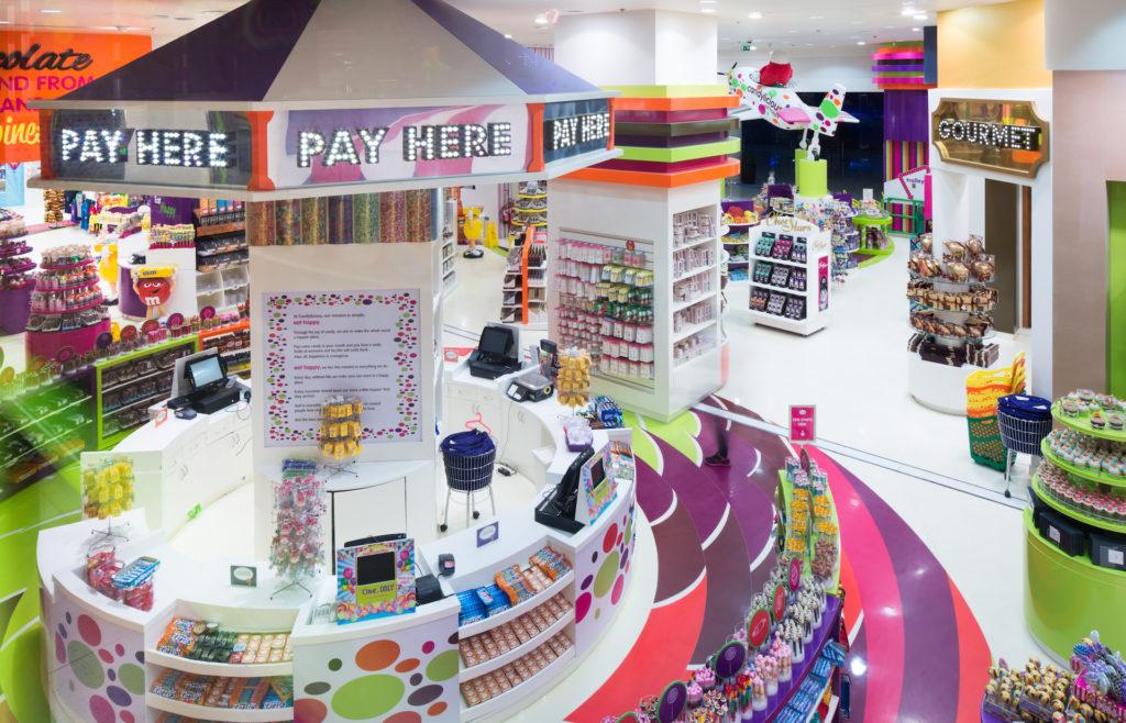candylicious, candy store, interior design, dubai