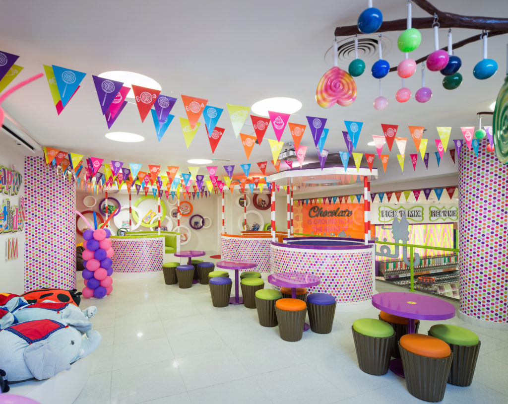 party hall, candylicious, candy store, interior design, dubai