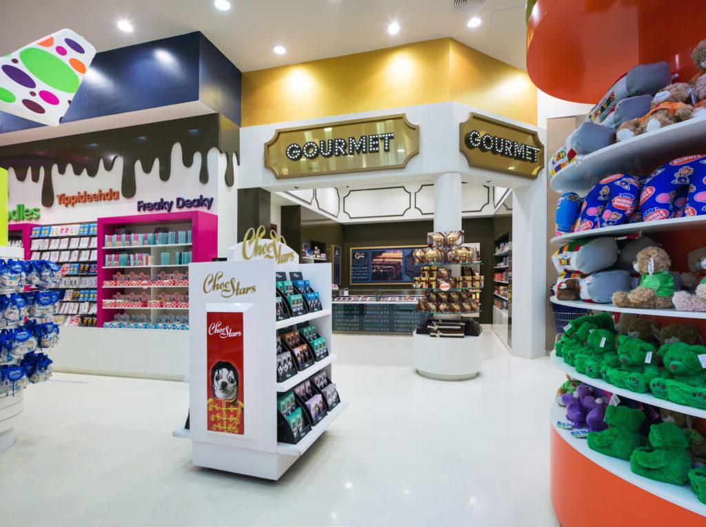 candylicious, candy store, dubai, interior design