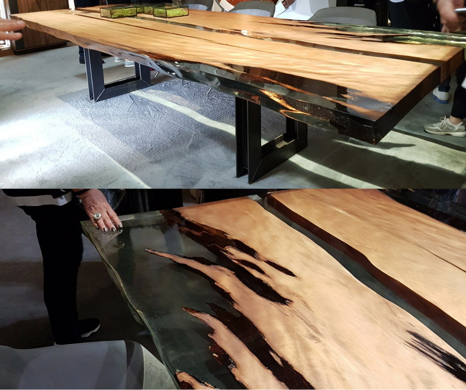 Kauri Wood Table Dubai Salone Del Mobile