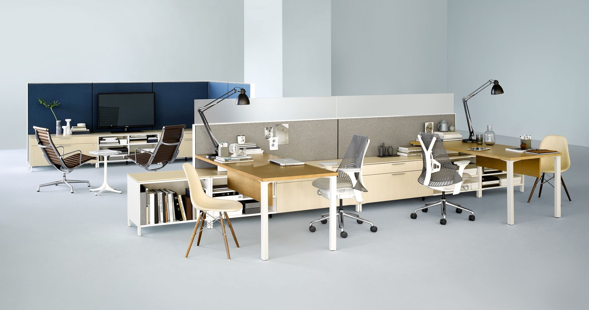 Canvas office landscape love that design for Office design herman miller