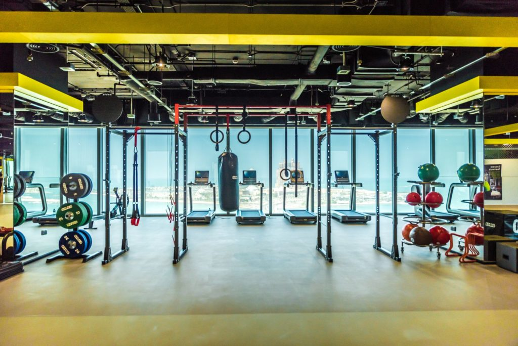 Fitness center designs gym for oil gas co abu dhabi for Gym design software