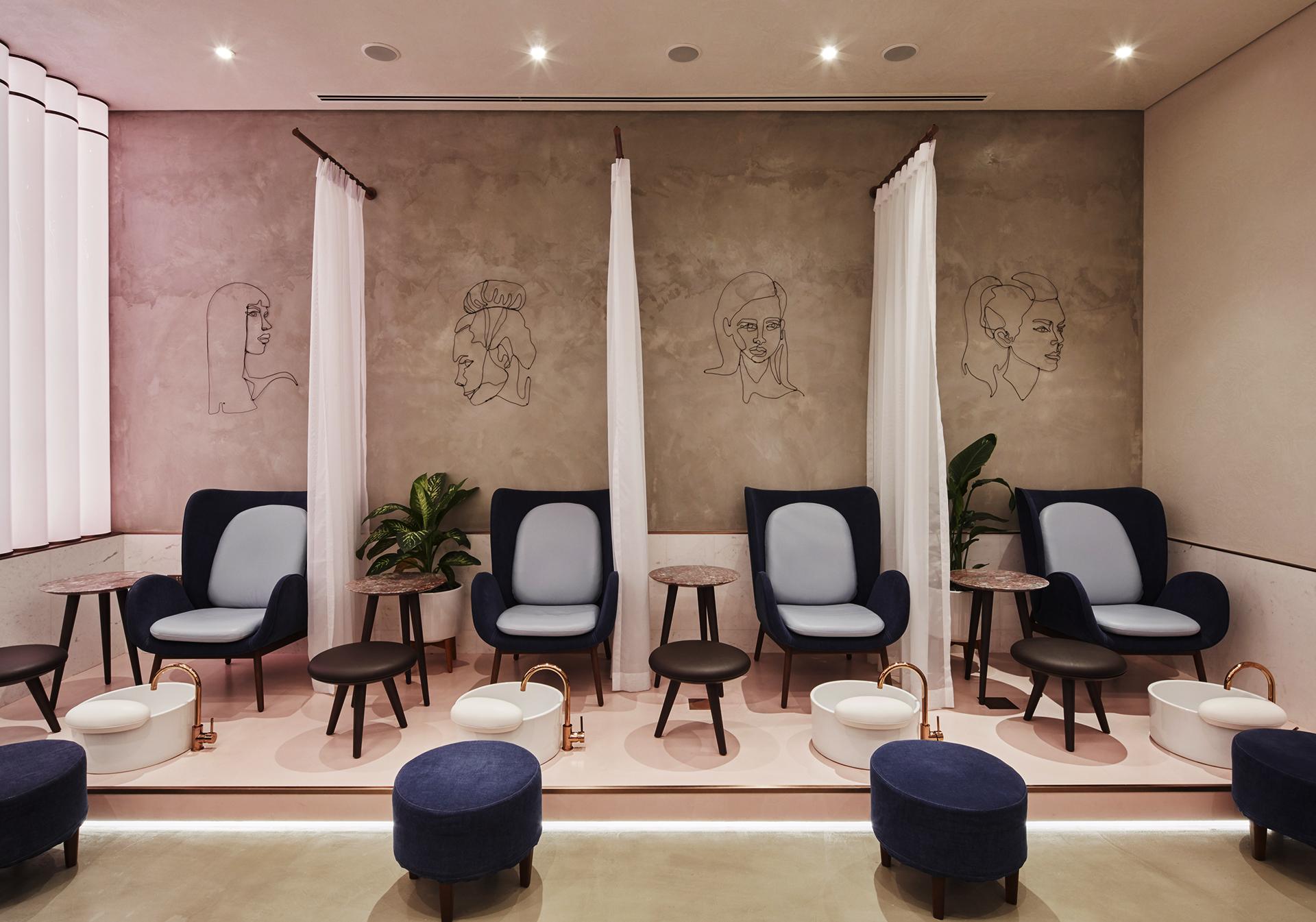 Deco Salon Rose Poudré beauty clinic, lifestyle designs: rose poudre, abu dhabi